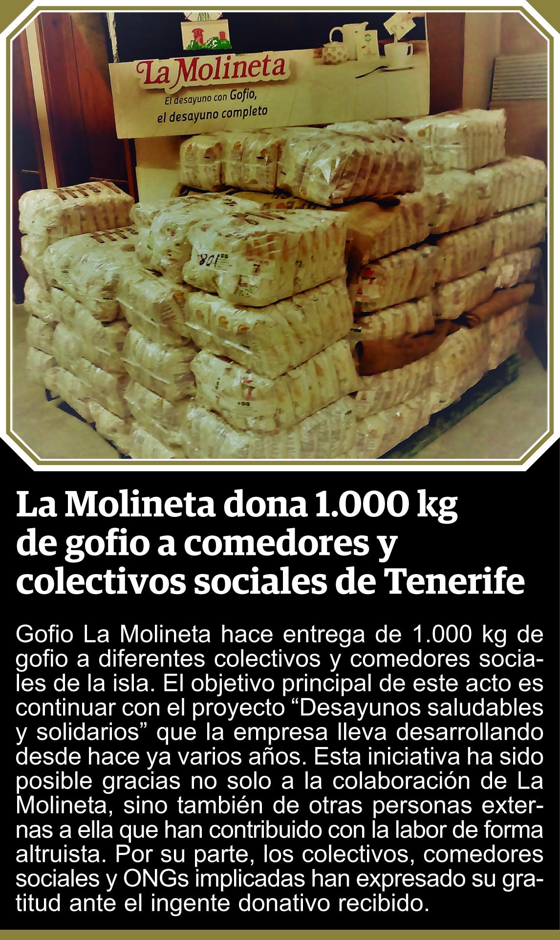 Diversos Colectovos y ONG , reciben la Donación de Gofio La Molineta s.l.