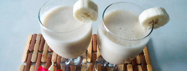 Batido de gofio y plátano