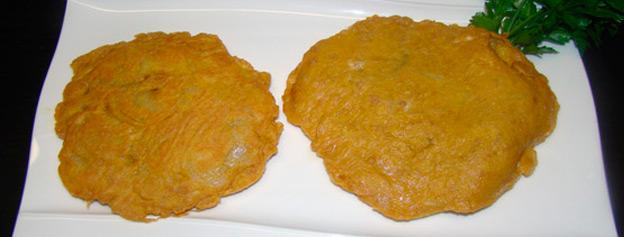 Potato and gofio omelette