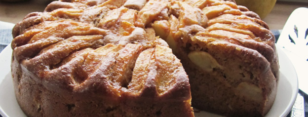 Gofio cake with apples
